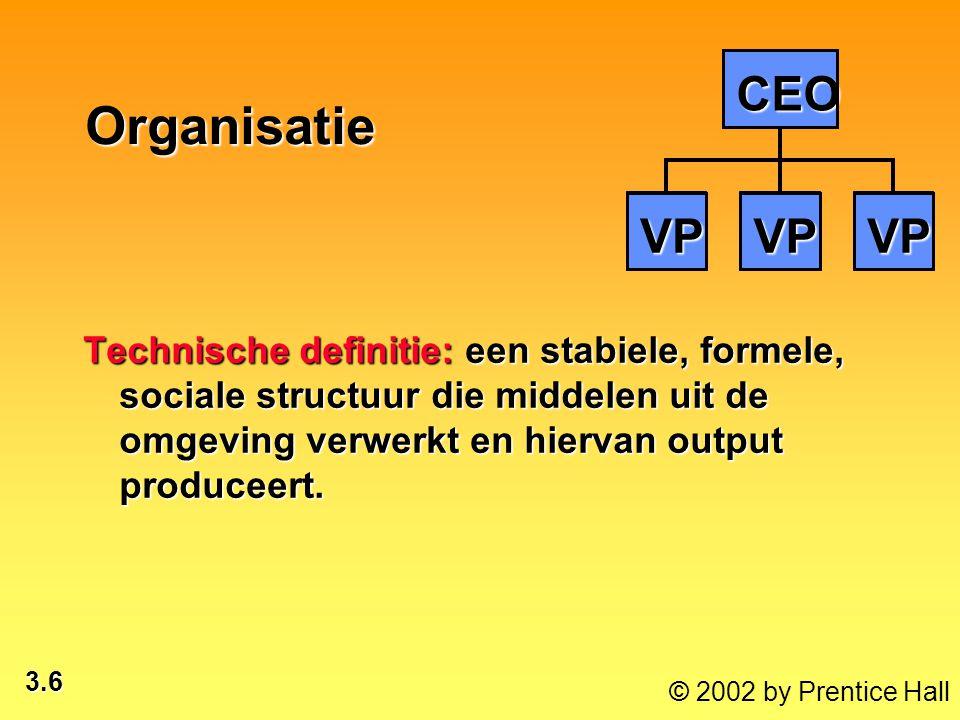 VP CEO. Organisatie.