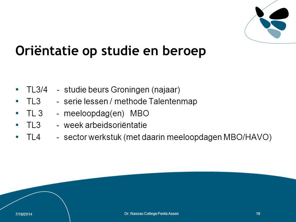 Oriëntatie op studie en beroep