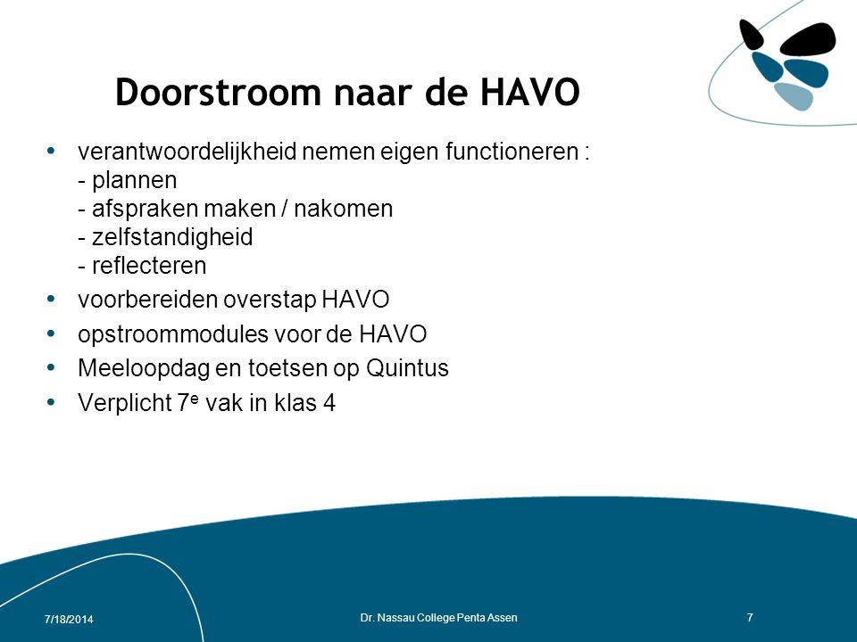 Doorstroom naar de HAVO