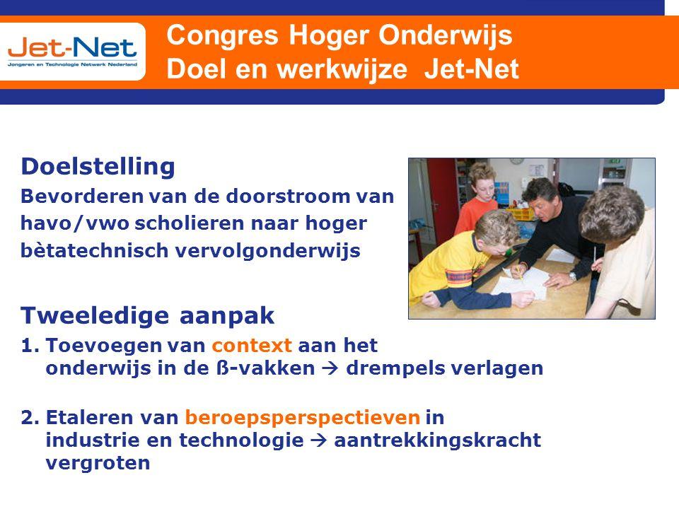 Congres Hoger Onderwijs Doel en werkwijze Jet-Net