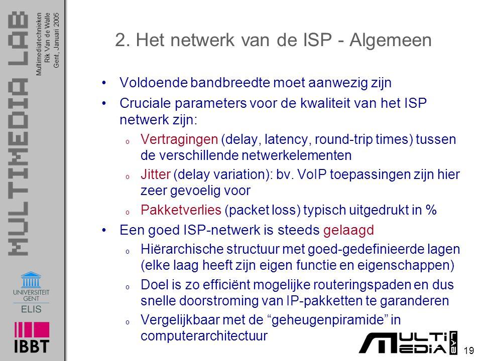 2. Het netwerk van de ISP - Algemeen