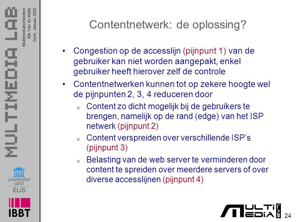 Contentnetwerk: de oplossing