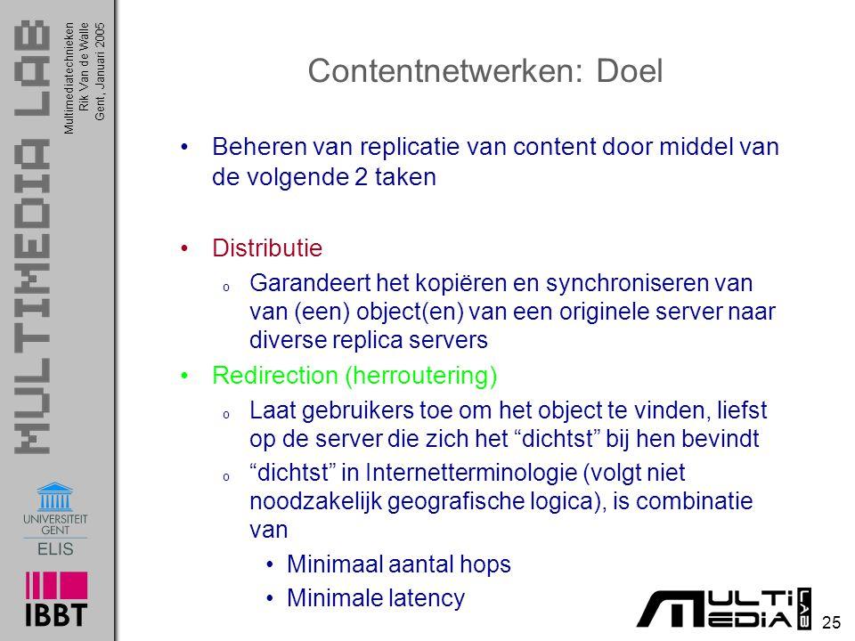 Contentnetwerken: Doel
