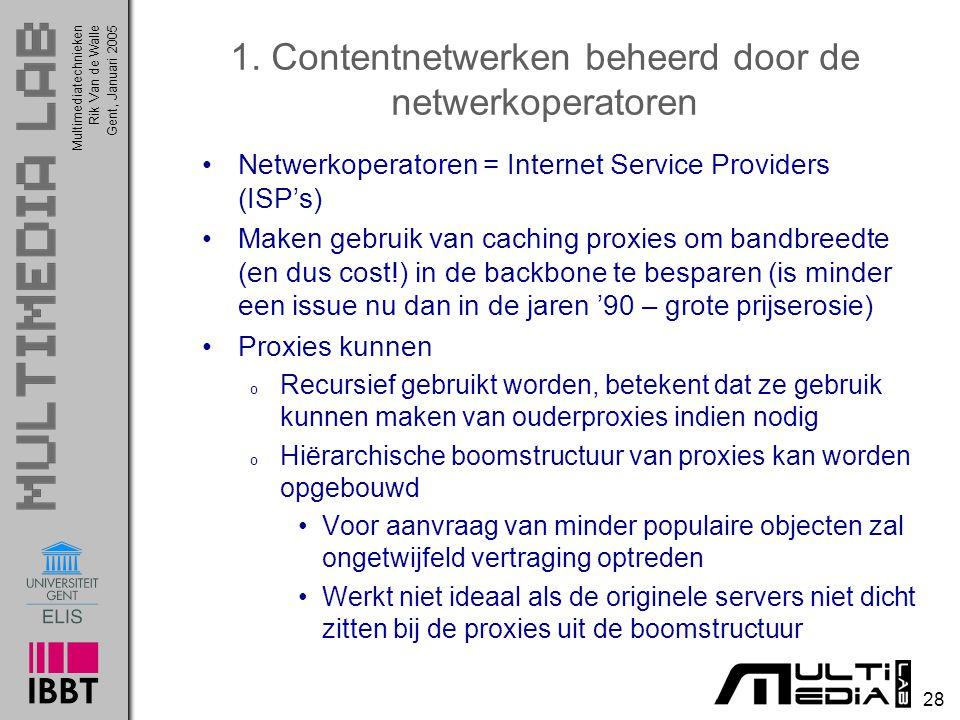 1. Contentnetwerken beheerd door de netwerkoperatoren