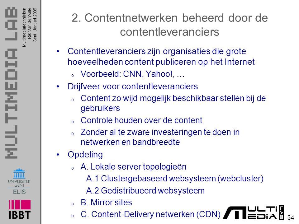2. Contentnetwerken beheerd door de contentleveranciers