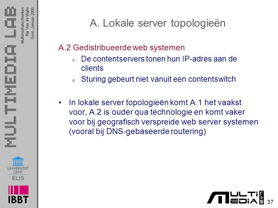 A. Lokale server topologieën