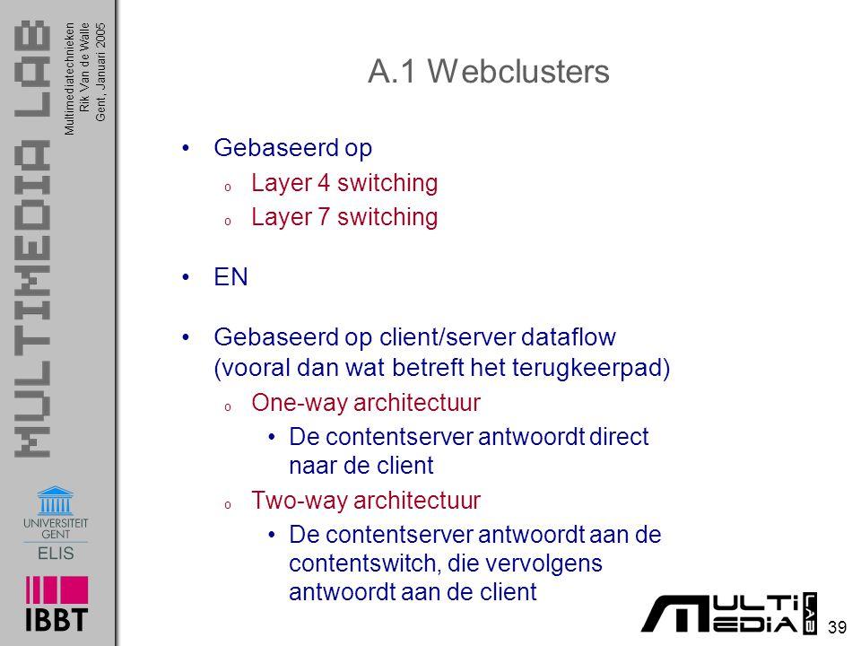 A.1 Webclusters Gebaseerd op EN