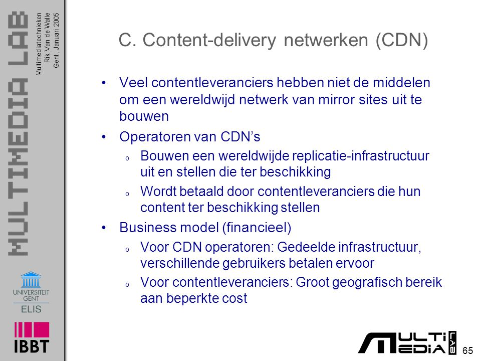 C. Content-delivery netwerken (CDN)