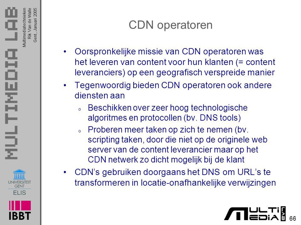CDN operatoren