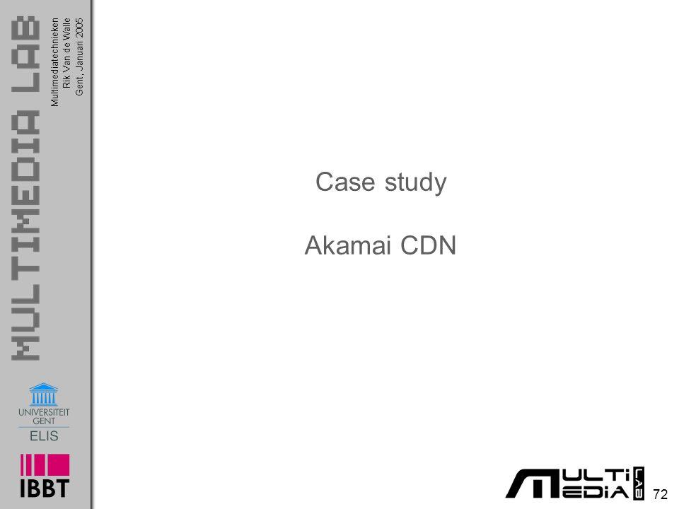 Case study Akamai CDN