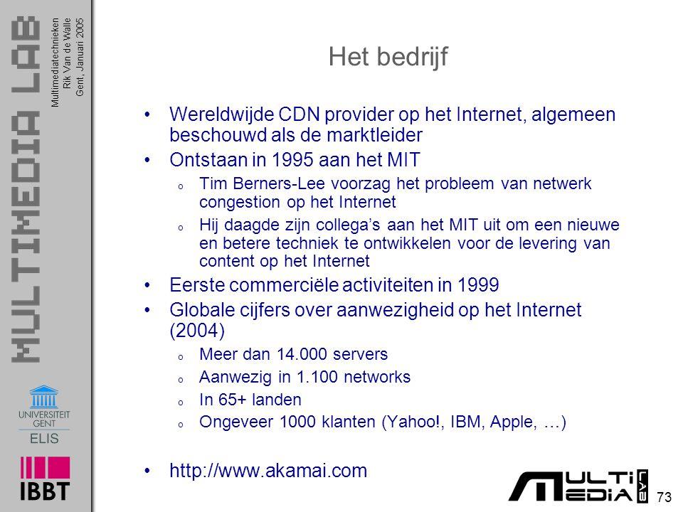 Het bedrijf Wereldwijde CDN provider op het Internet, algemeen beschouwd als de marktleider. Ontstaan in 1995 aan het MIT.