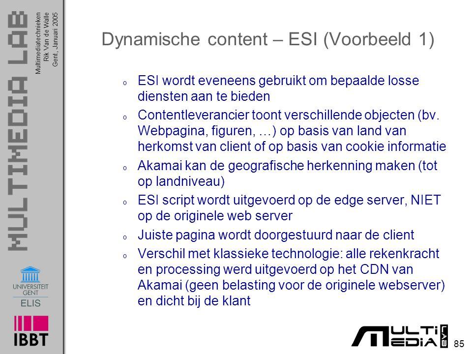 Dynamische content – ESI (Voorbeeld 1)