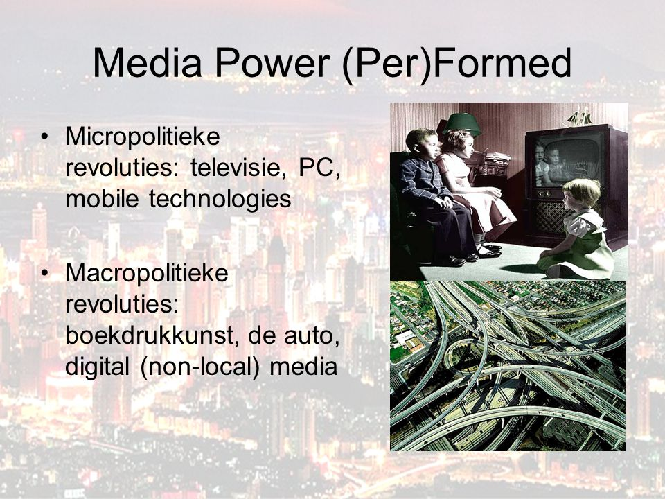 Media Power (Per)Formed