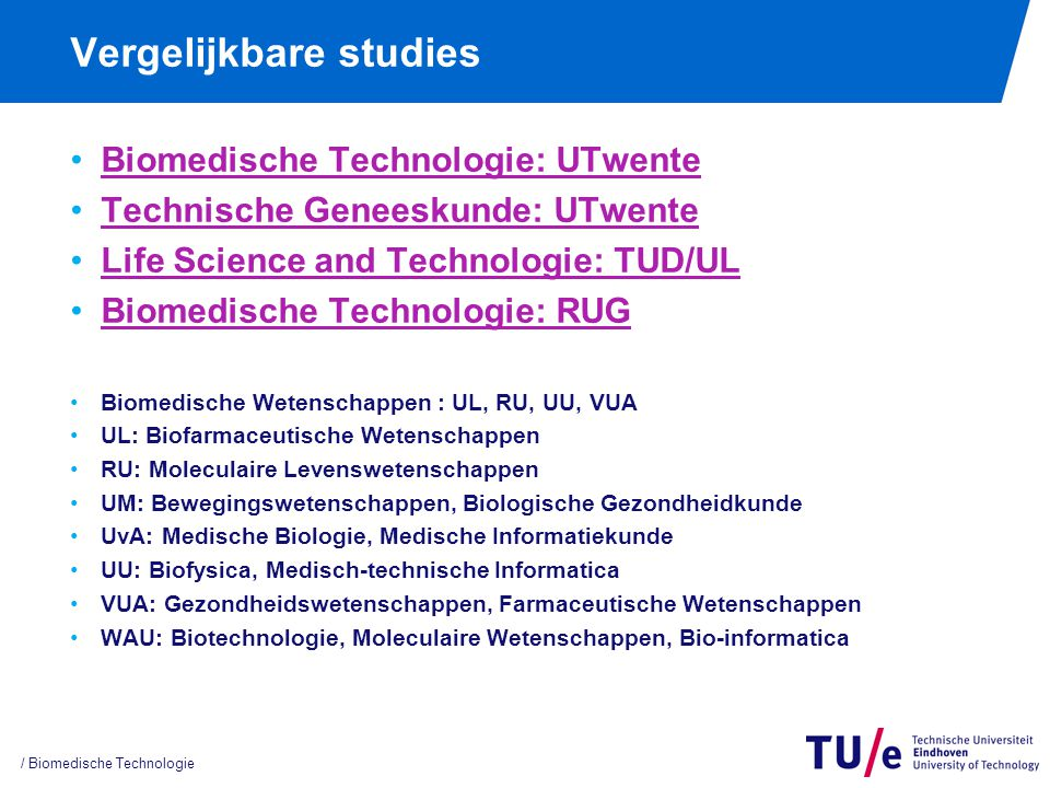 Life Science & Technology TUD/UL