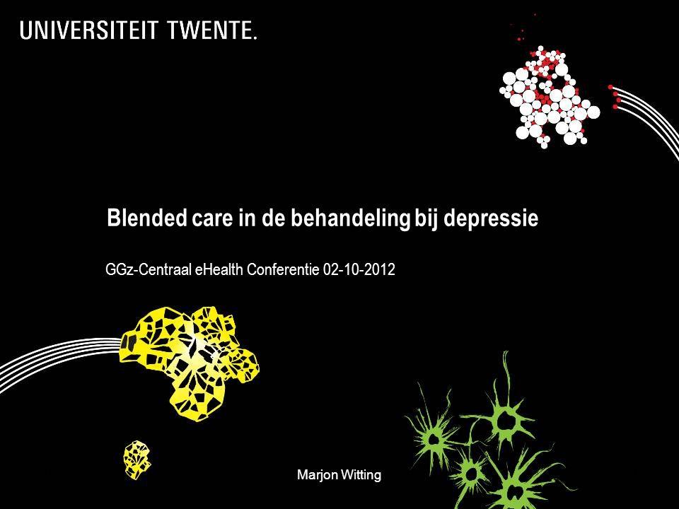 Blended care in de behandeling bij depressie