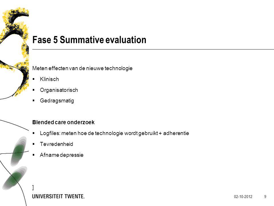 Fase 5 Summative evaluation