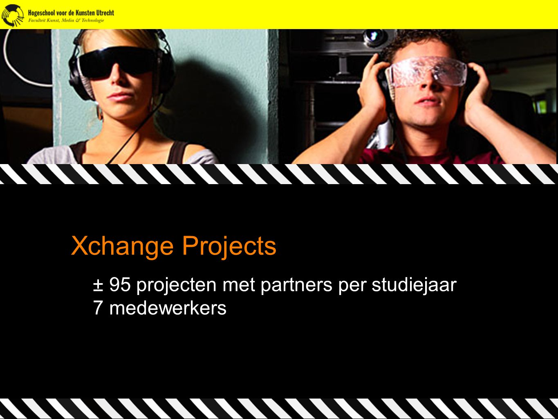 Xchange Projects ± 95 projecten met partners per studiejaar