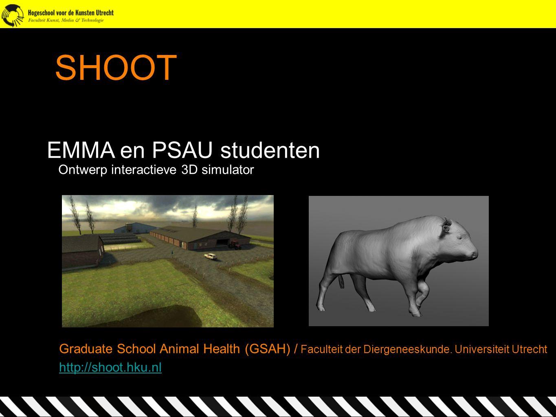 SHOOT EMMA en PSAU studenten Ontwerp interactieve 3D simulator