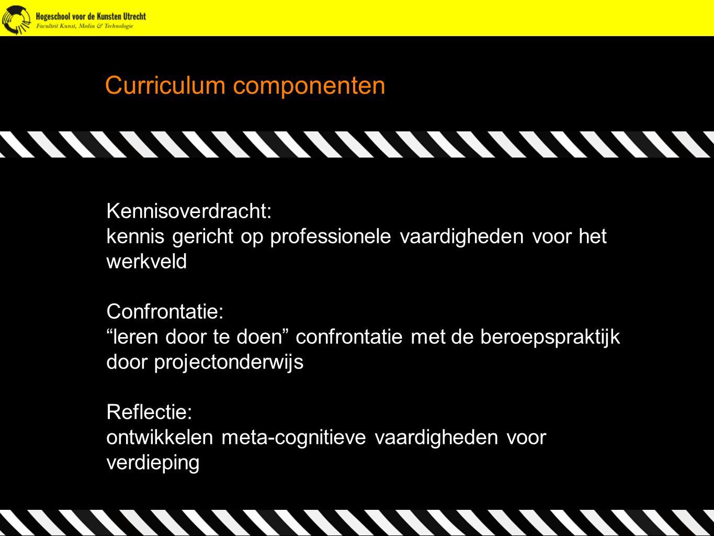 Curriculum componenten