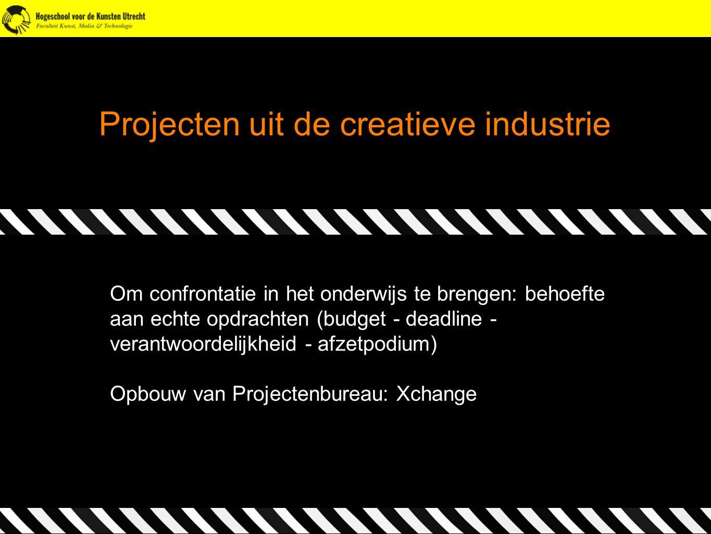 Projecten uit de creatieve industrie