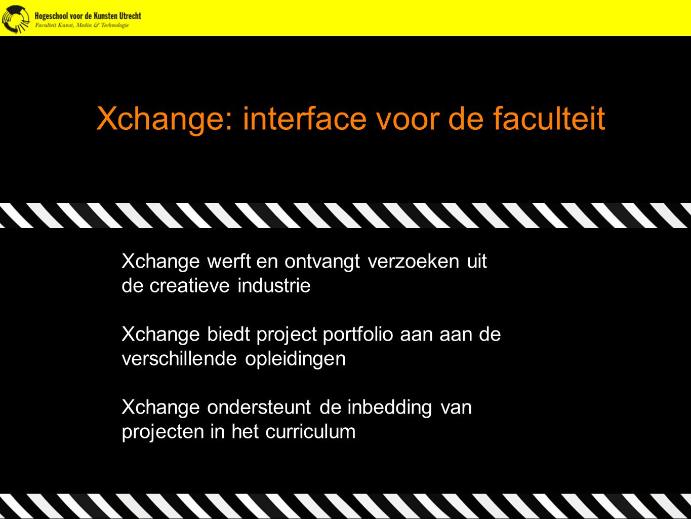 Xchange: interface voor de faculteit