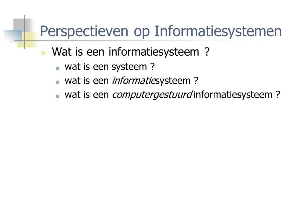 Perspectieven op Informatiesystemen