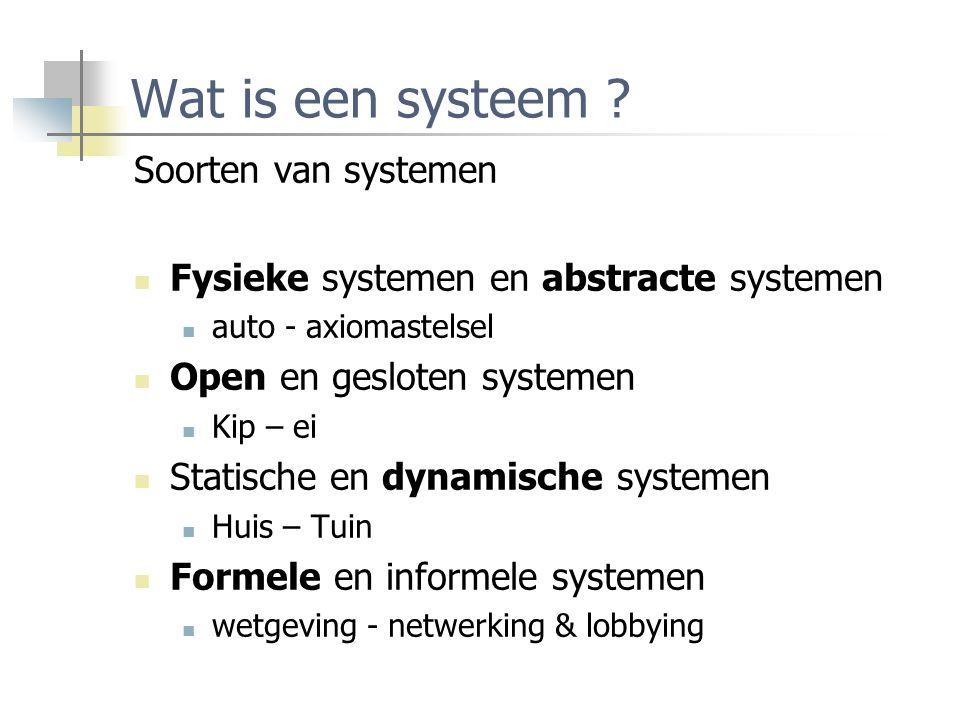 Wat is een systeem Soorten van systemen