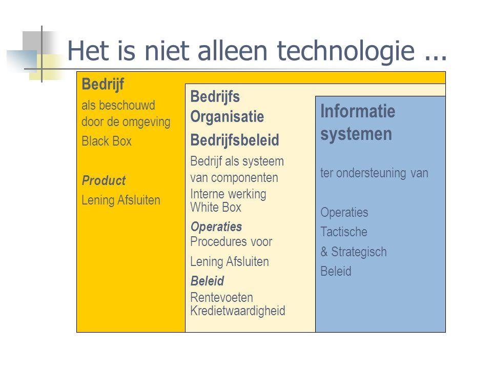 Het is niet alleen technologie ...