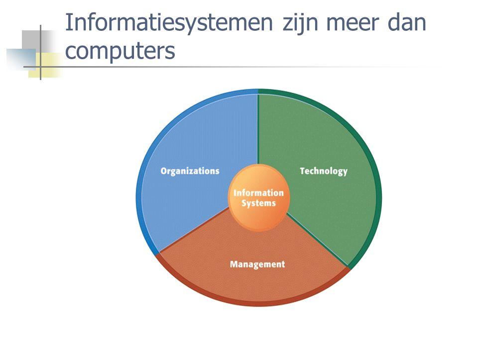 Informatiesystemen zijn meer dan computers