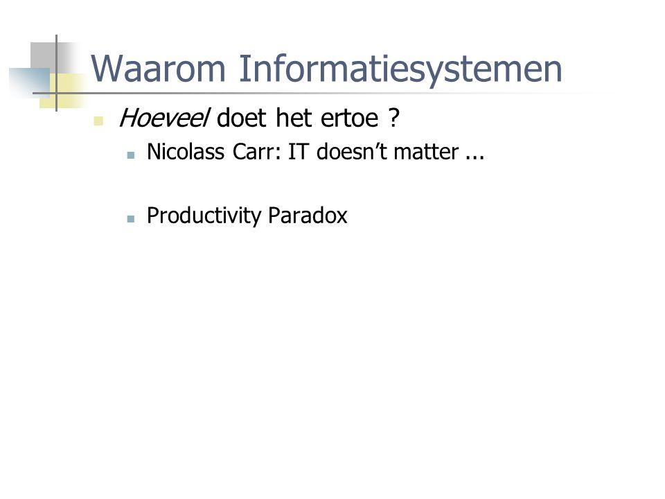 Waarom Informatiesystemen