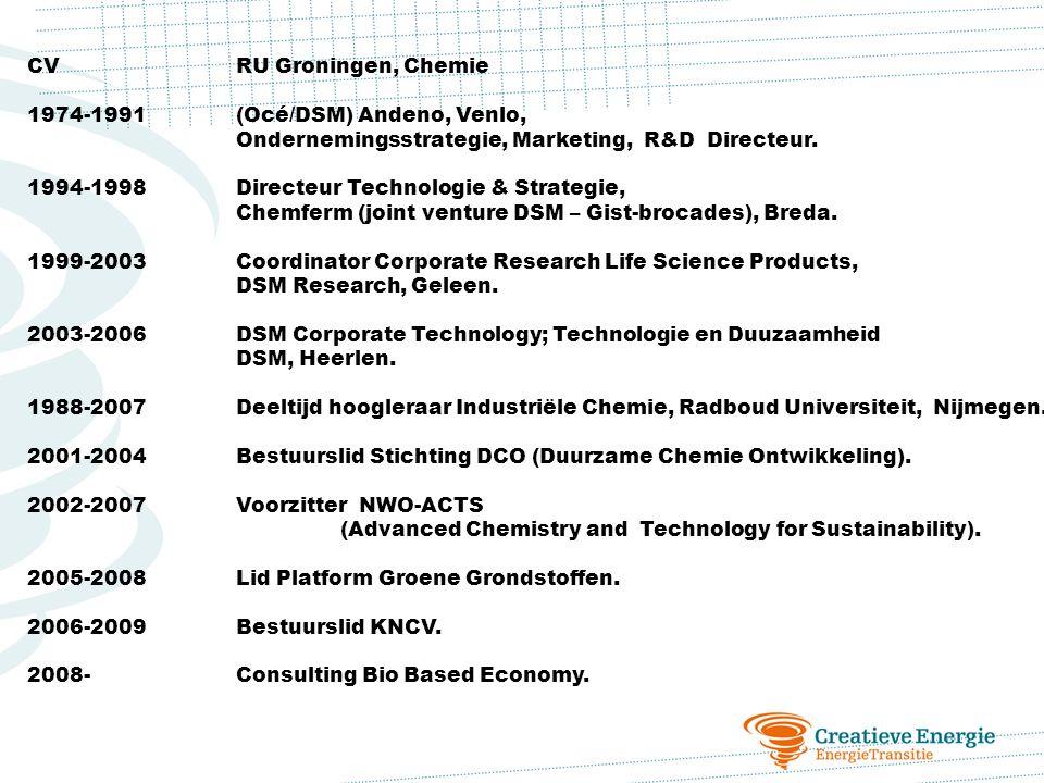 CV RU Groningen, Chemie 1974-1991 (Océ/DSM) Andeno, Venlo, Ondernemingsstrategie, Marketing, R&D Directeur.