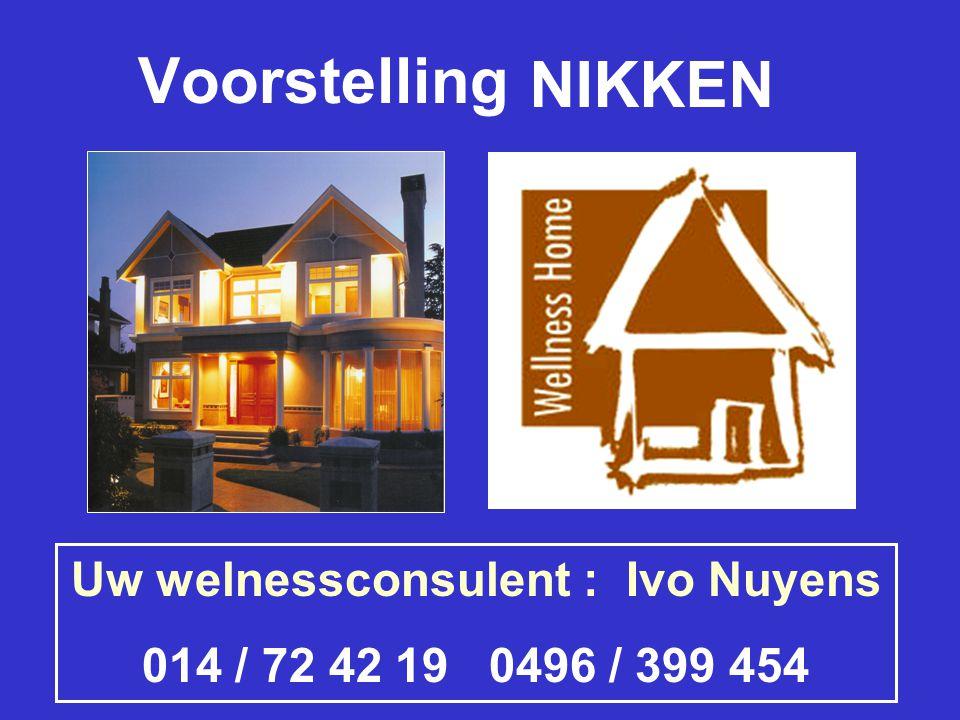 Uw welnessconsulent : Ivo Nuyens