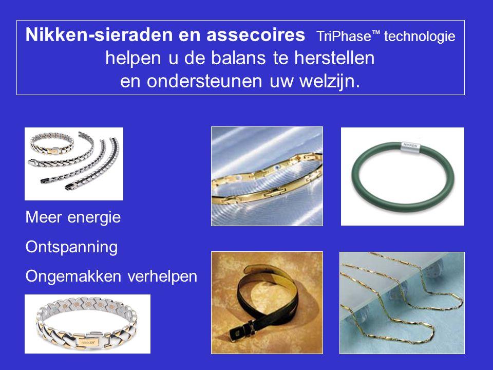 Nikken-sieraden en assecoires TriPhase™ technologie helpen u de balans te herstellen en ondersteunen uw welzijn.
