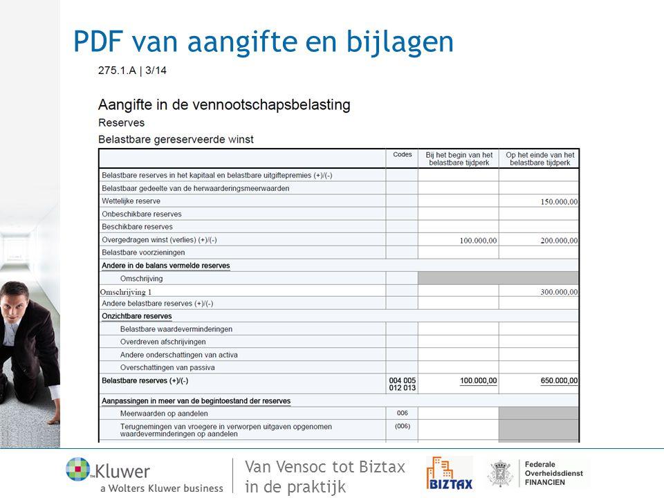 PDF van aangifte en bijlagen