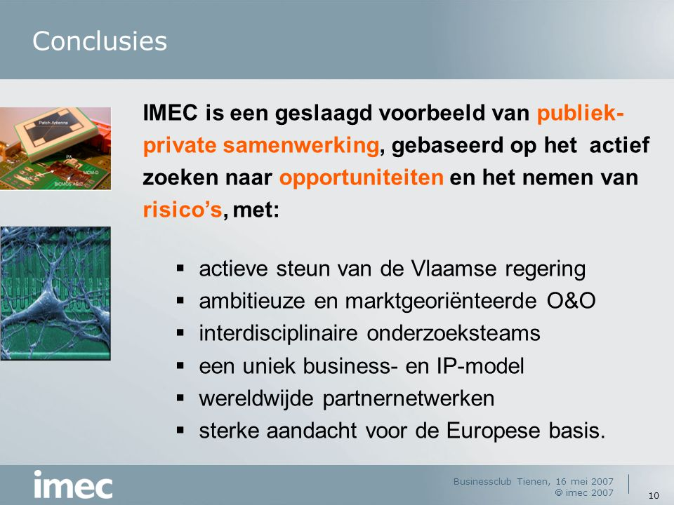 IMEC Introduction, G. Declerck