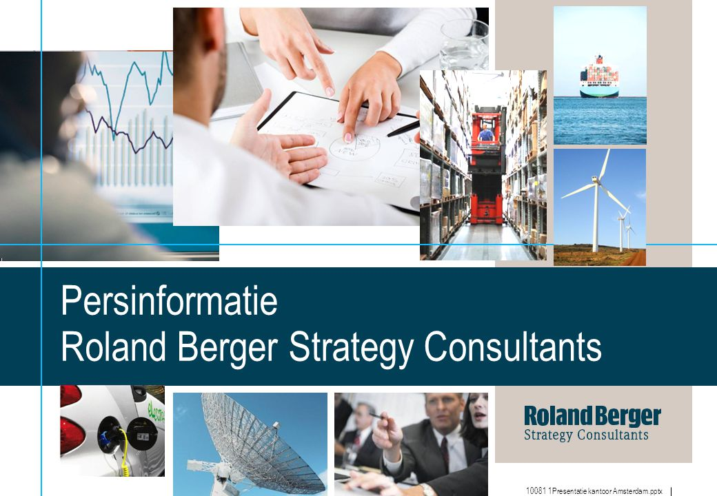 Persinformatie Roland Berger Strategy Consultants