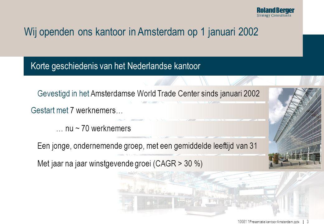Wij openden ons kantoor in Amsterdam op 1 januari 2002