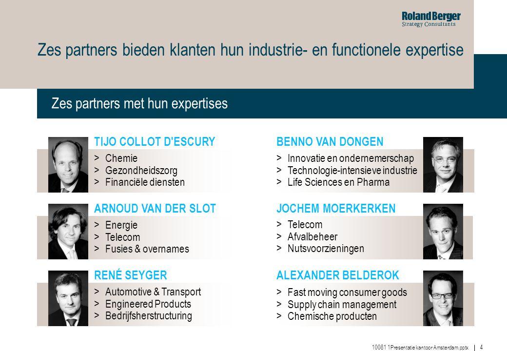 Zes partners bieden klanten hun industrie- en functionele expertise