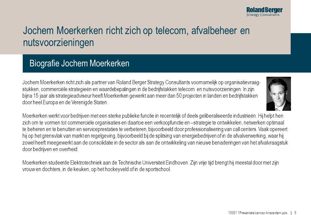 Jochem Moerkerken richt zich op telecom, afvalbeheer en nutsvoorzieningen