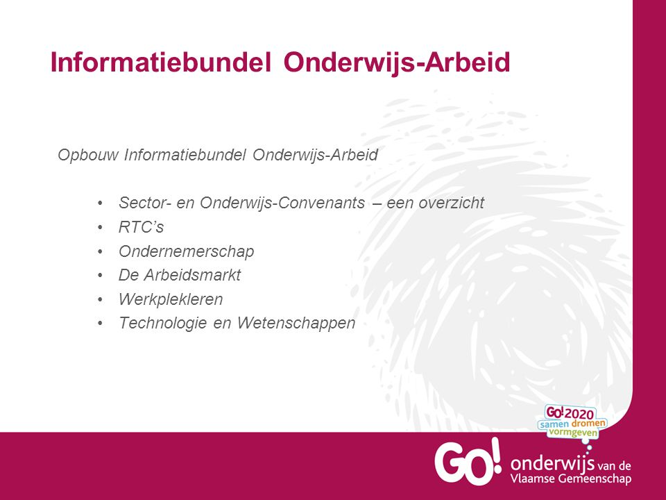 Informatiebundel Onderwijs-Arbeid