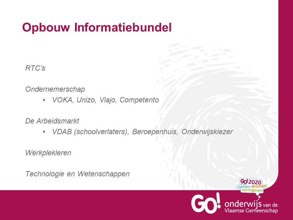 Opbouw Informatiebundel