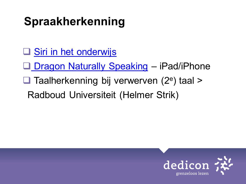 Spraakherkenning Siri in het onderwijs