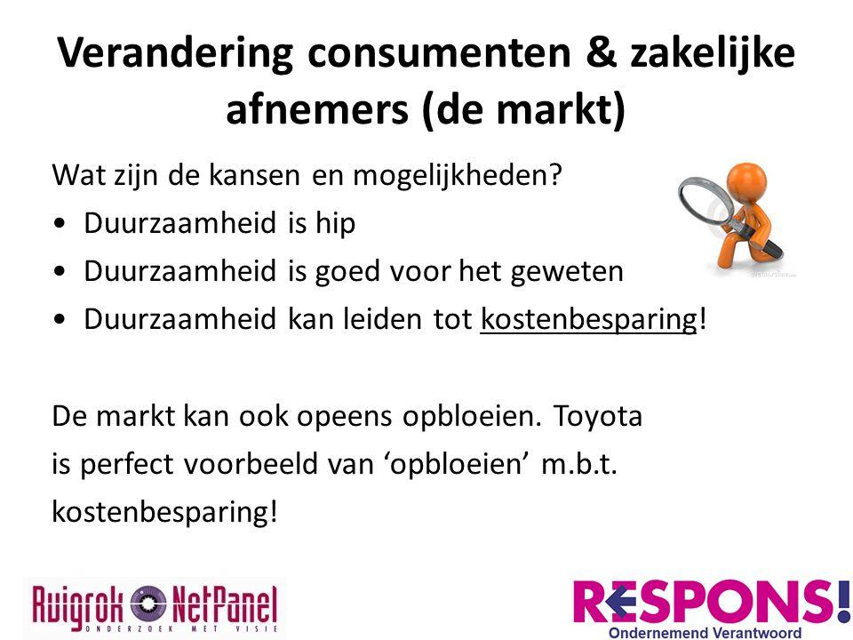 Verandering consumenten & zakelijke afnemers (de markt)