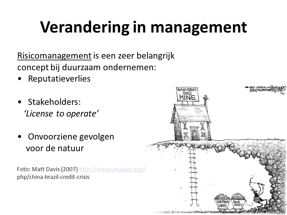 Verandering in management