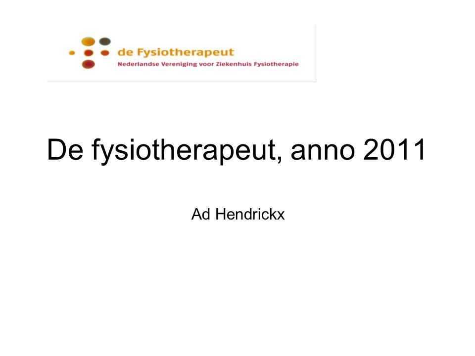De fysiotherapeut, anno 2011