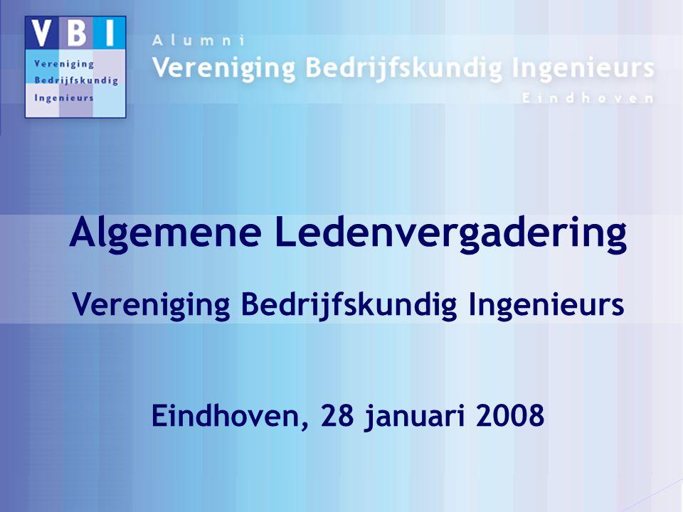Algemene Ledenvergadering Vereniging Bedrijfskundig Ingenieurs