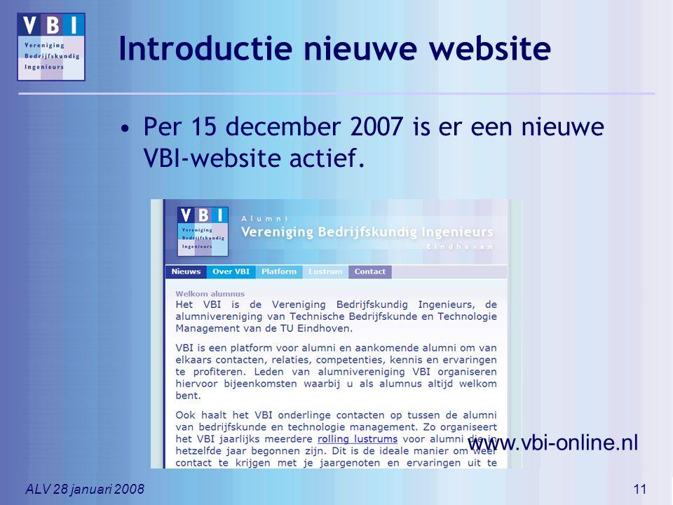 Introductie nieuwe website