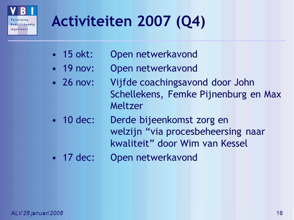 Activiteiten 2007 (Q4) 15 okt: Open netwerkavond