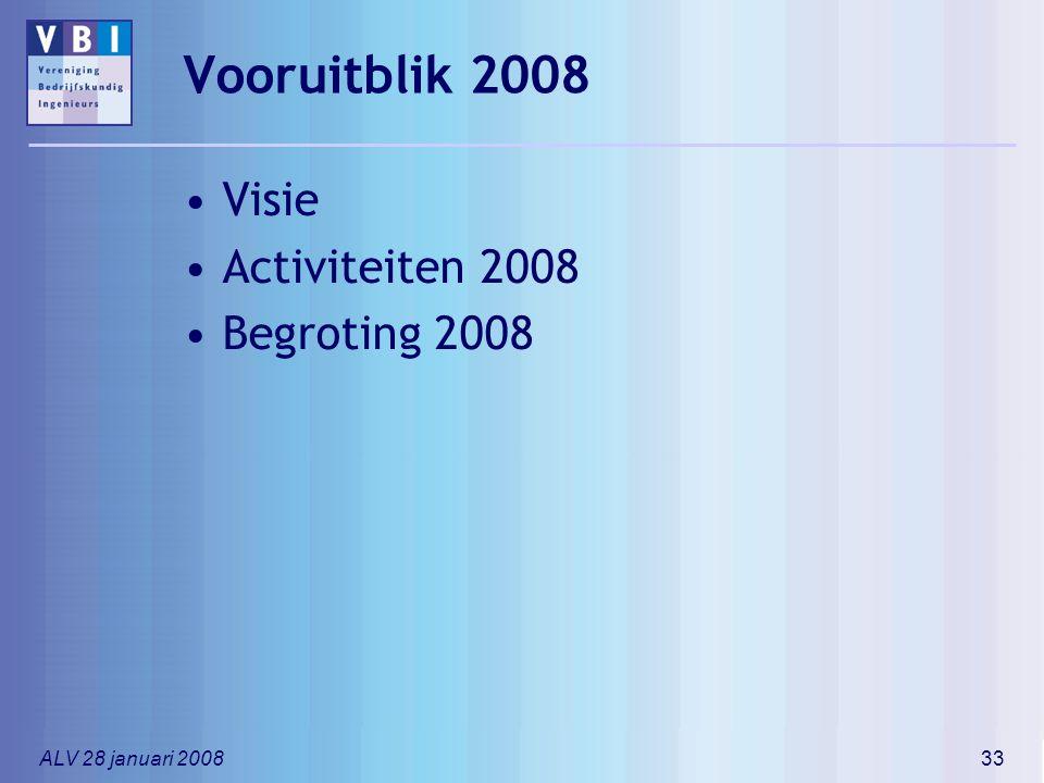 Vooruitblik 2008 Visie Activiteiten 2008 Begroting 2008