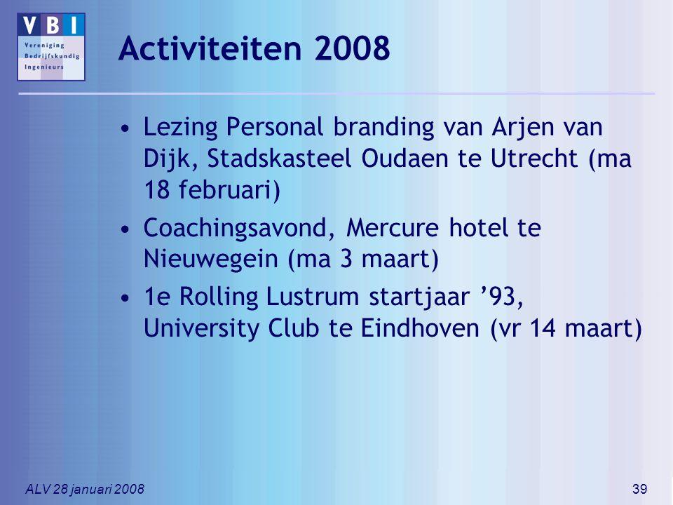 Activiteiten 2008 Lezing Personal branding van Arjen van Dijk, Stadskasteel Oudaen te Utrecht (ma 18 februari)